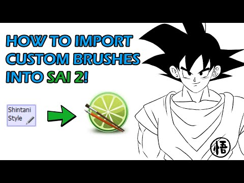 How To Import Brushes Into Paint Tool SAI 2!