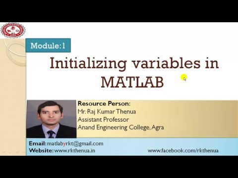 Lecture-8: Initializing variables in MATLAB part 1 (Hindi/Urdu)