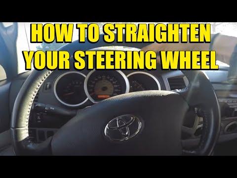 How To Straighten Your Steering Wheel