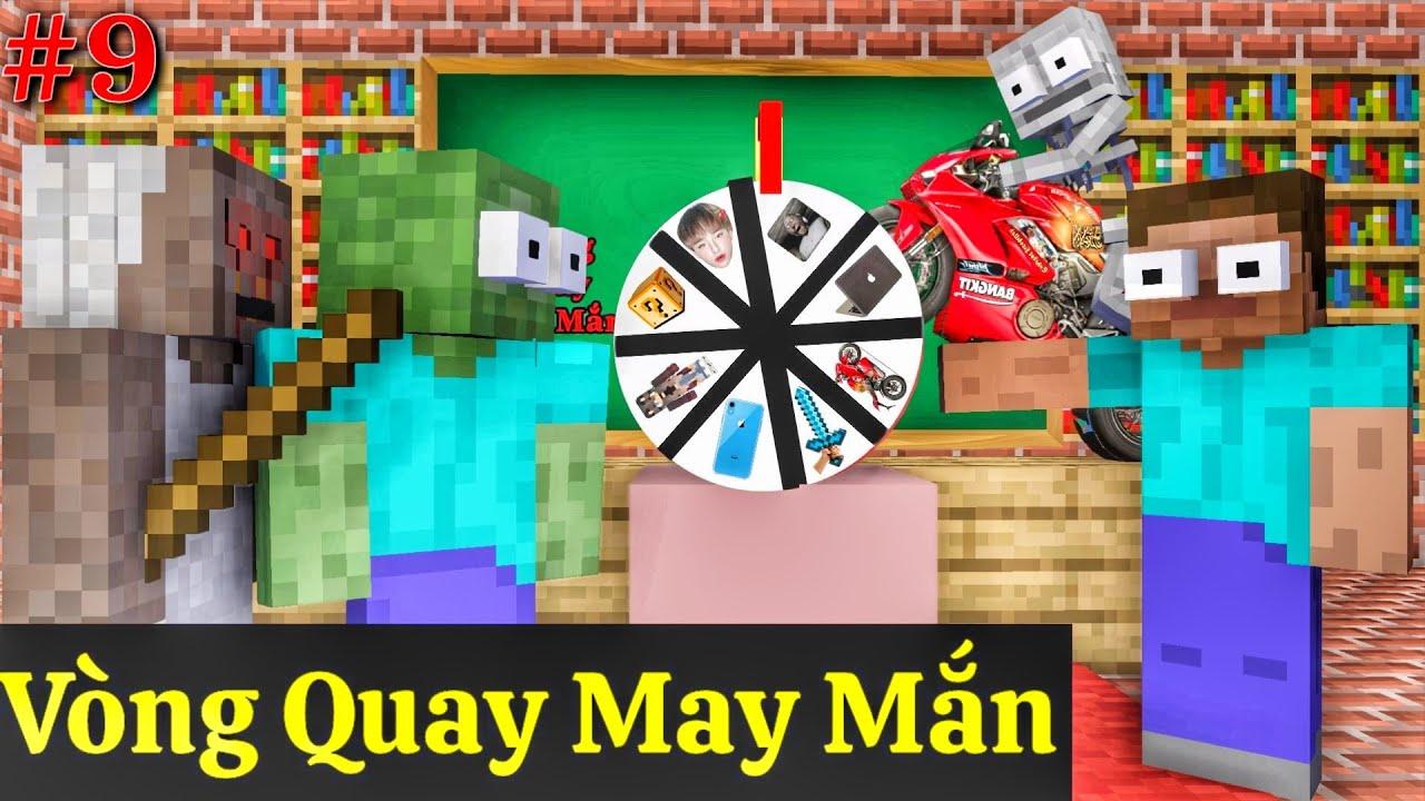 [ Lớp Học Quái Vật ] VÒNG QUAY MAY MẮN | Minecraft Animation