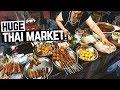 HUGE Thai Food Night Market in Chiang Mai! + Thai Massages & First Tuk Tuk Ride