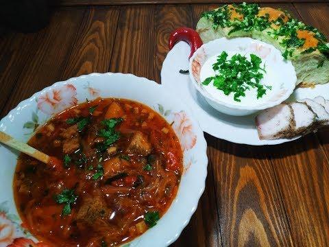 Украинский борщ. Правильный рецепт борща.