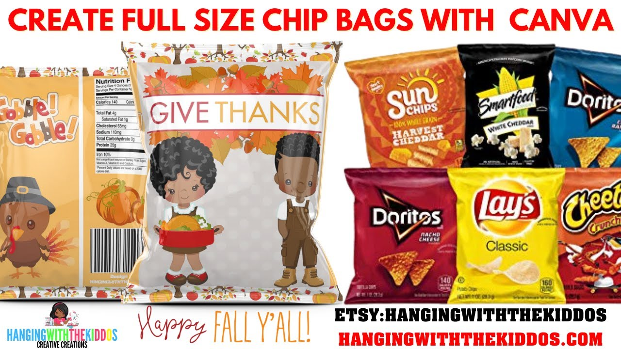 How To Make Nutrition Facts Labels For Personalize Chip Bags And Custom Party Favors Youtube
