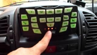 Mostrando o sistema de luzes e sirenes - UR