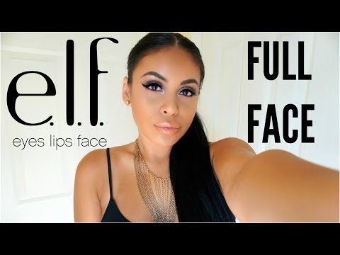 FULL FACE USING ONLY E.L.F MAKEUP TUTORIAL 2017 | JuicyJas
