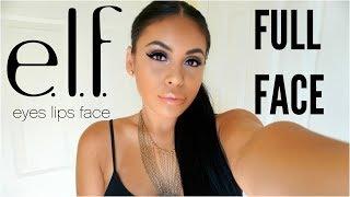 FULL FACE USING ONLY E.L.F MAKEUP TUTORIAL 2017 | JuicyJas