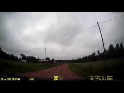 Finland. Drive along the Finnish border zone near Vaalimaa.