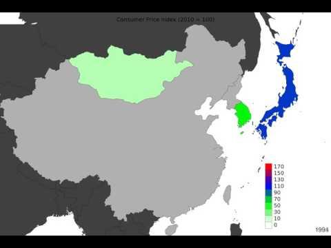 East Asia - Consumer Price Index - Time Lapse
