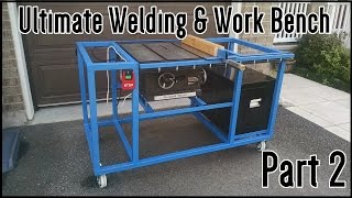 Ultimate Welding & Work Table | Part 2(In part 2 I install my table saw on a height adjustment mechanism. Paint the entire frame blue. Mount rails to sit my tool box on top of and restore my motor a little ..., 2015-09-03T18:58:16.000Z)