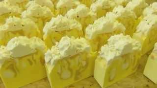 Cutting Lemon Champagne Creme Silk Soap by Edens Secret