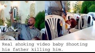 Real Shocked video Gun Baby kill his Father by Gun | one and half year old baby