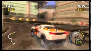 Flatout Wii Gameplay Part 2