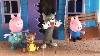 Peppa Pig e George giocano con Tom e Jerry nella casa delle trappole [Storia]