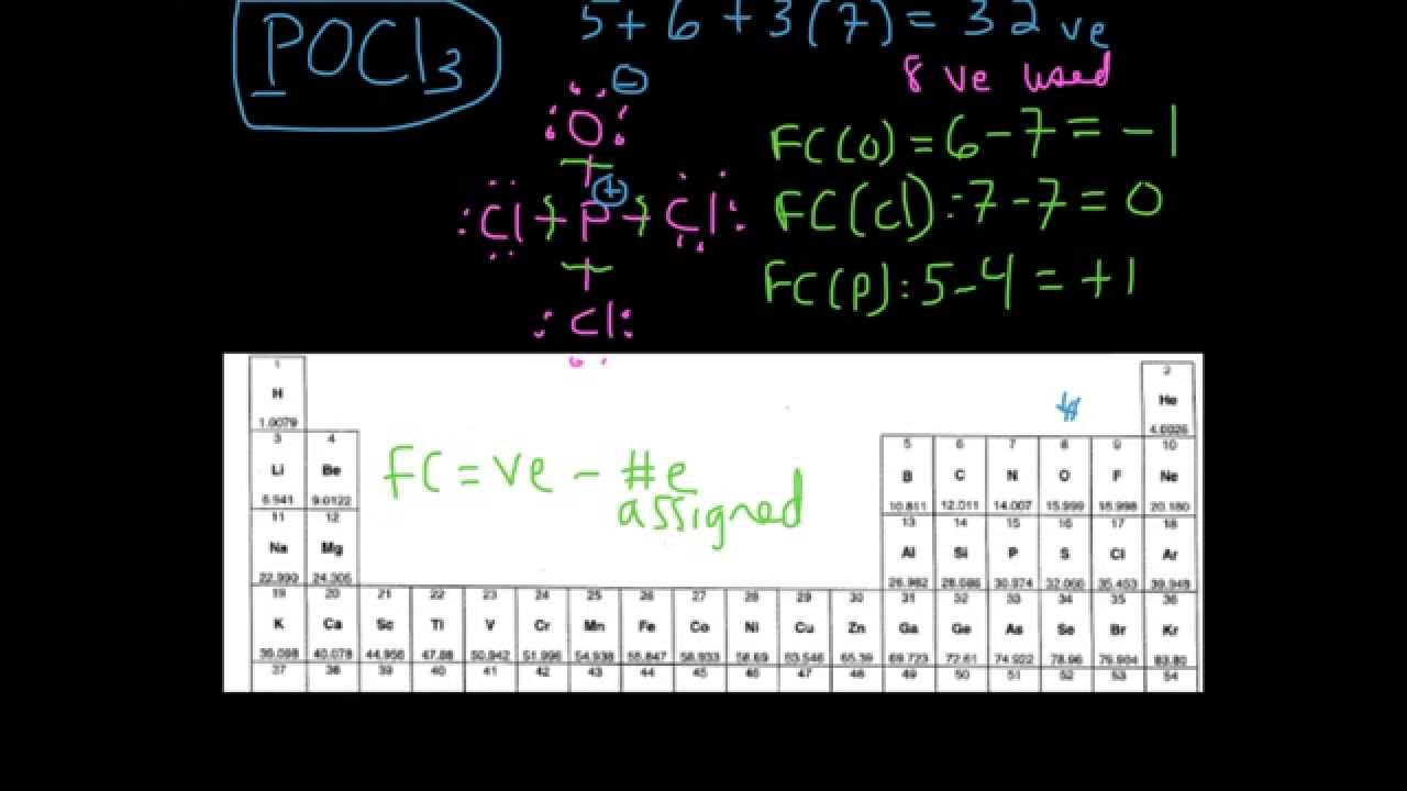 small resolution of example 2 drawing the lewis structure for pocl3 youtube rh youtube com lewis diagram pocl3 lewis