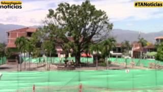 Iniciaron las obras de remodelación del parque principal del municipio de Sopetrán