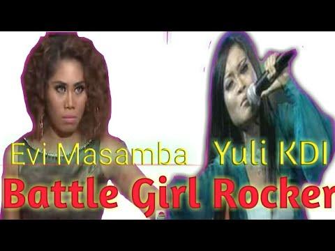 EVI D ACADEMI  VS YULI KDI:BATTLE  LADY ROKER DANGDUT  INDONESIA