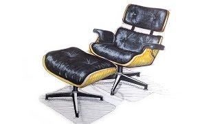 Eames Lounge Sketch