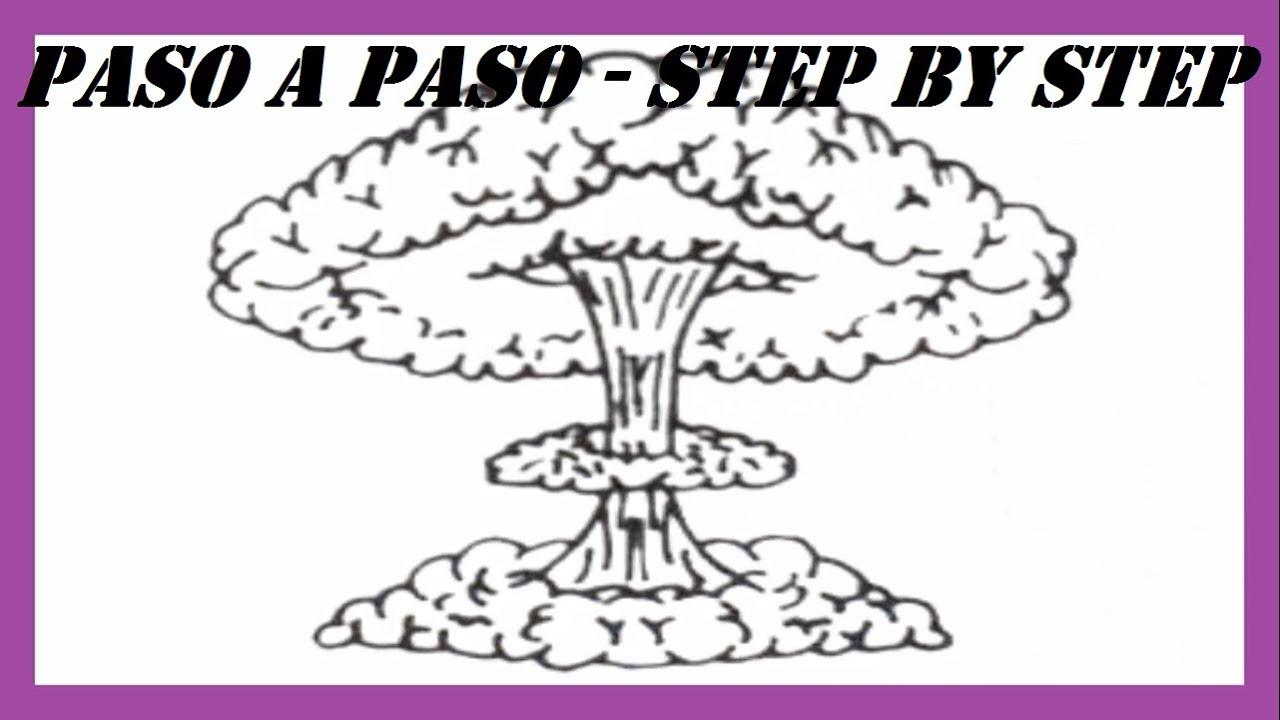 Como dibujar una Explosin Nuclear paso a paso l How to draw a