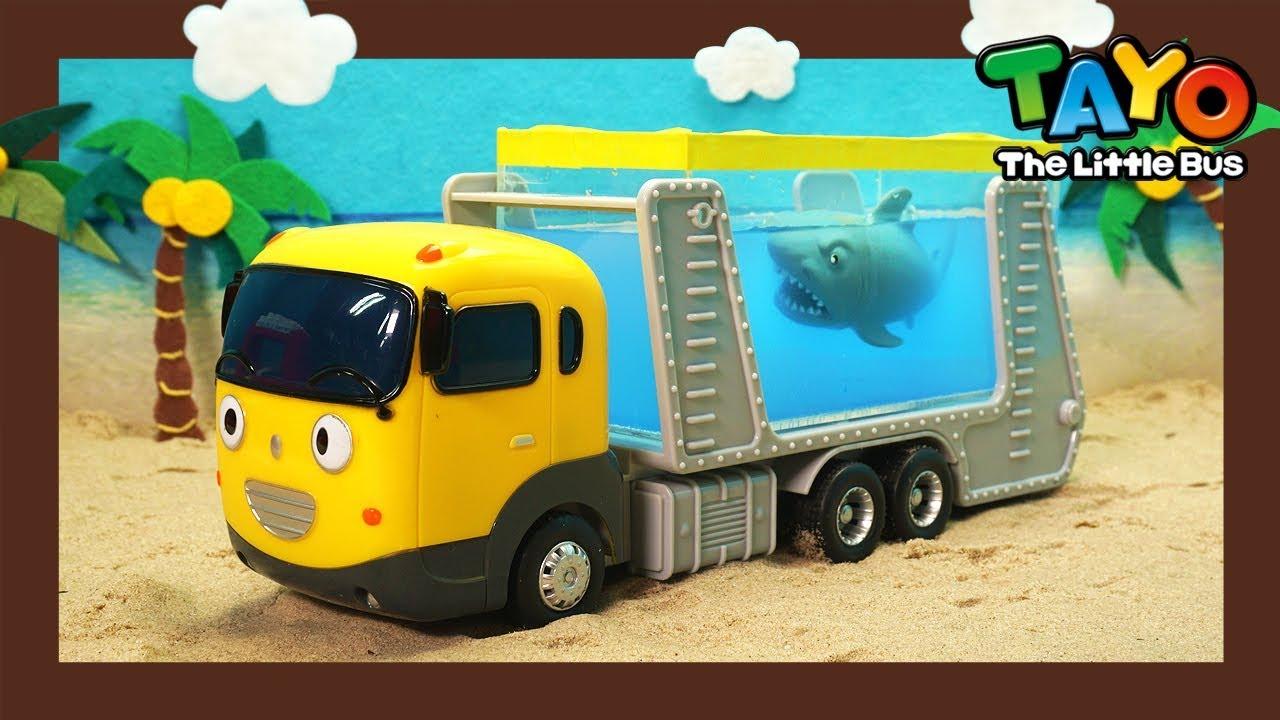 Tayo Kendaraan berat Mainan menunjukkan l #16 Kendaraan Berat Kuat membuat kolam kontainer!
