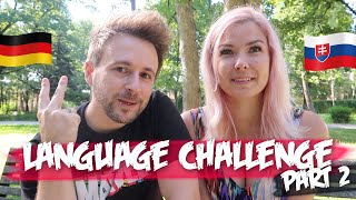 Language Challenge Part 2, Slovak vs German (Taller Girlfriend Couple Challenge Game)