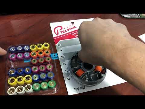 Variator roller tuning kits