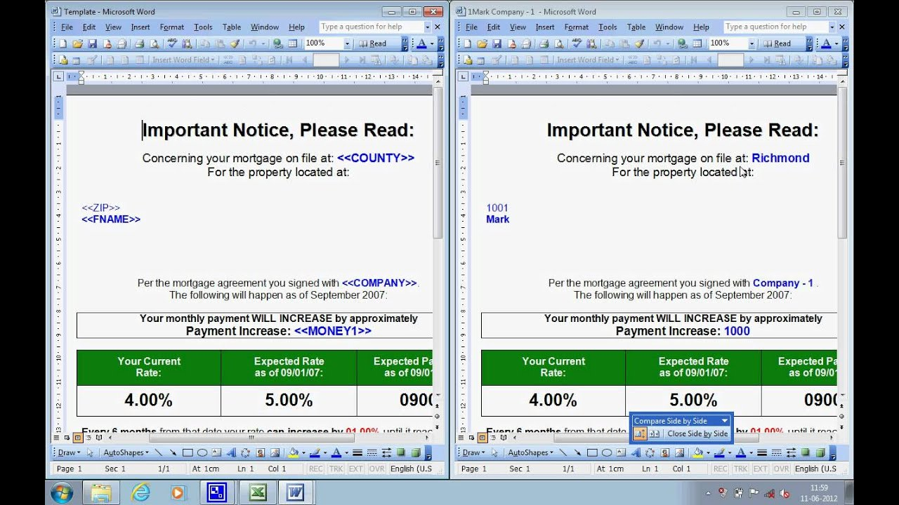 Mail merge from excel to word vba mailmerge that doesn t for As built software documentation