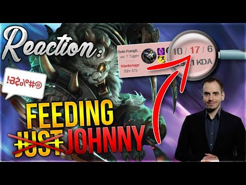 MEINE AUGEN BLUTEN! Just Johnny auf Rengar - Reaction Video [League of Legends] [Deutsch] thumbnail