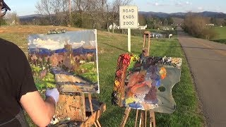 Kyle Buckland Beginner Plein Air Oil Painting Demonstration Art Lesson #8