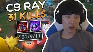 C9 Ray Gets 31 KILLS IN URF! - League of Legends Funny Moments & Highlights