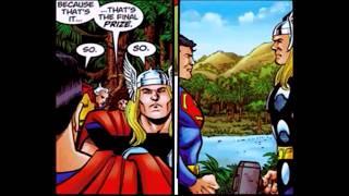 Superman Vs Thor Comic Book Fight