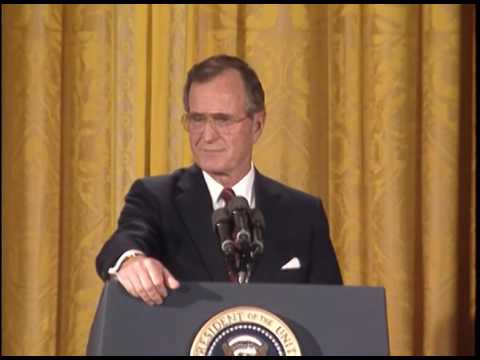 Live Press Conference in the East Room of the White House - 08 June 1989