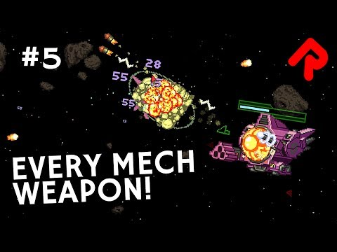 Every New Starbound 1.3 Mech Weapon! | Let's play Starbound 1.3 preview [RC3]