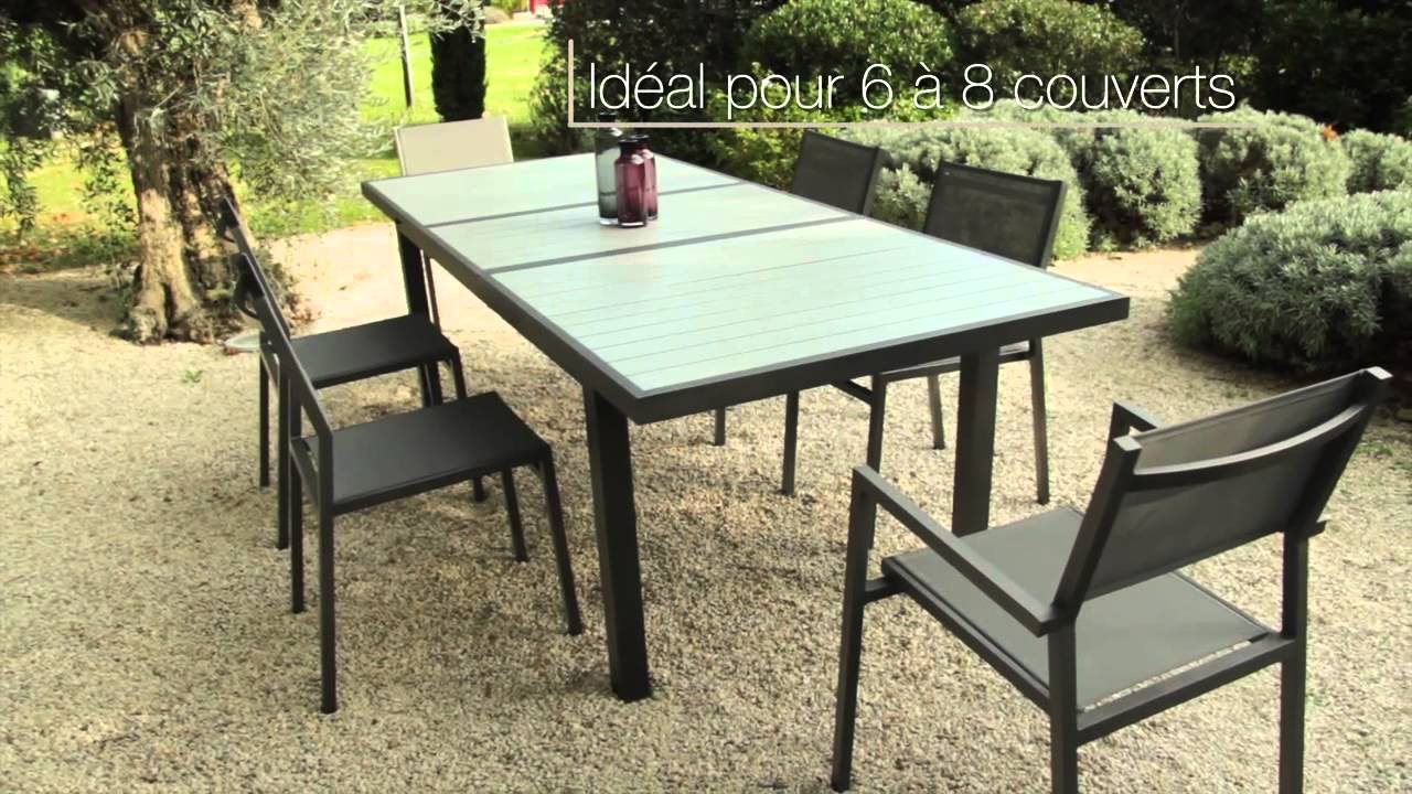 Table d 39 ext rieur pop up pol perfect outdoor living for Table exterieur aluminium anodise