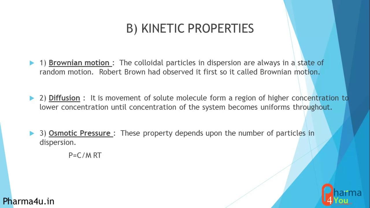 Properties of Colloidal Dispersion Basics
