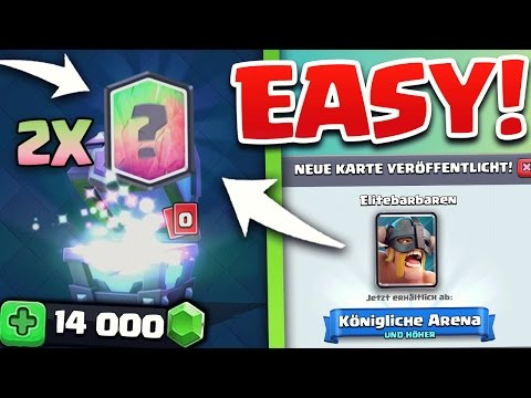 OMG - Mega Supermagie Truhen Opening! | Neue Karten - Elite Barbar Deck Test | Clash Royale deutsch