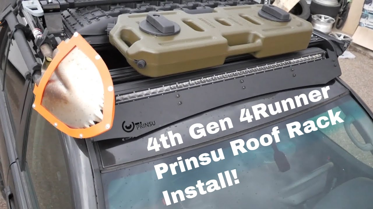 4th Gen Toyota 4runner Prinsu rack install 2003-2009 - YouTube