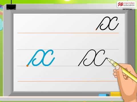 Cursive Writing | Small Letter 'x' | Macmillan Education India