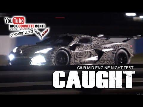 CAUGHT! C8-R MID ENGINE CORVETTE RACER NIGHT TESTING@ SEBRING