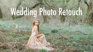Обработка свадебного фото под пленку | Wedding photo retouch Film effect