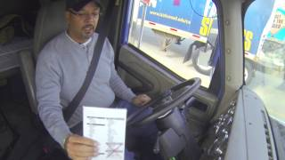 Engine Start (In-Cab) Pre-Trip Inspection - Truck Driver Training