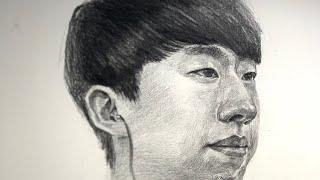 입시미술 - 남자 얼굴소묘 얼굴그리기 #연필소묘 미대입…