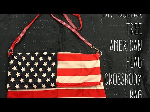 DIY Dollar Tree American Flag Crossbody Bag A Sewing Project