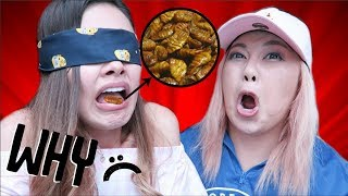 Trying Interesting Korean Convenience Store Foods ft. HeyitsFeiii (What's in My Mouth Challenge!)
