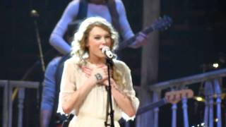 Taylor Swift singing Mean and talking about the CMT Awards going on...