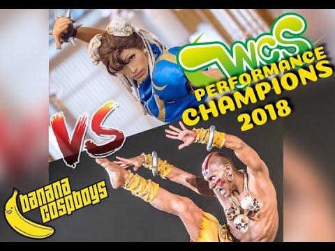 WCS 2018  Team Mexico STREET FIGHTER PERFORMANCE - BANANACOSPBOYS COSPLAY
