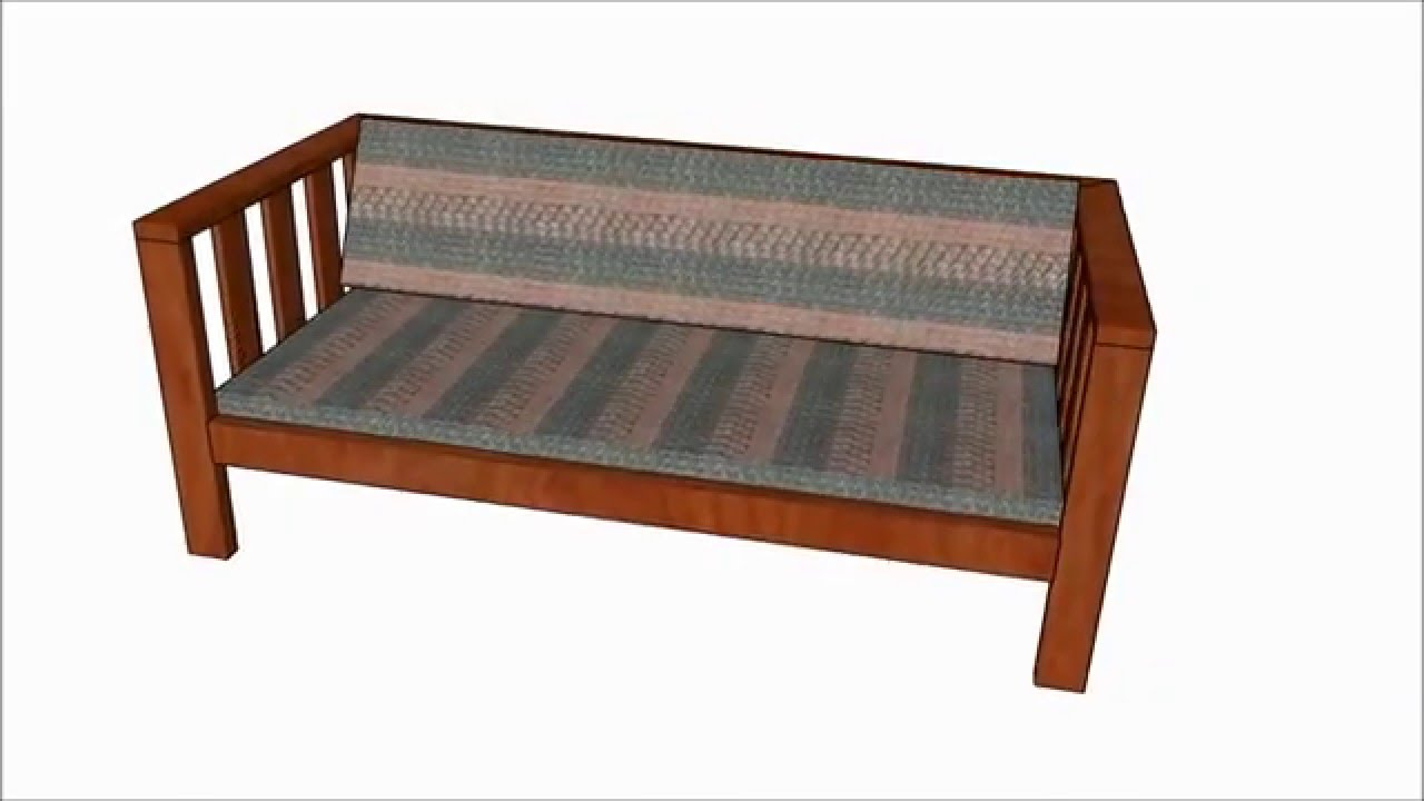 Outdoor sofa plans youtube for Outdoor sofa plans