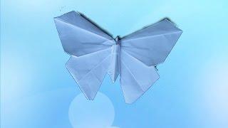 БАБОЧКА - 3D. Оригами Своими Руками из Бумаги для Начинающих. Видео(В этом видео я научу Вас делать своими руками оригами для детей - БАБОЧКУ очень красивую и очень реалистичну..., 2014-12-27T23:15:05.000Z)