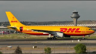 DHL Arbus A300 Golden Hour Taxi at Madrid Barajas Airport