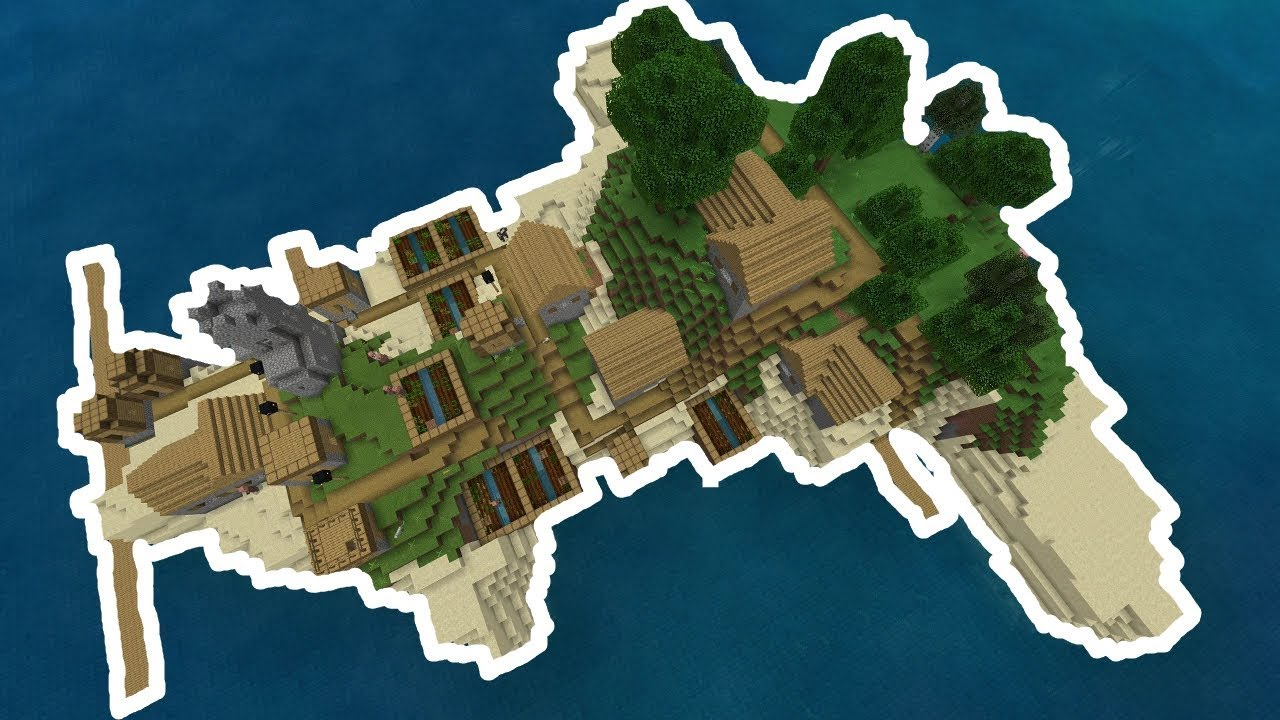 Minecraft Seed Survival Island With Village At Spawn Bedrock 110