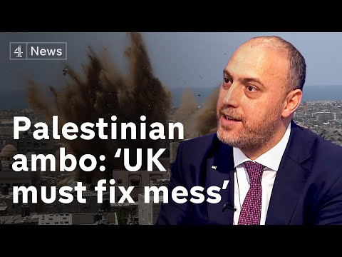 Palestinian ambassador Husam Zomlot wants 'clear commitment from UK to fix the mess created here'